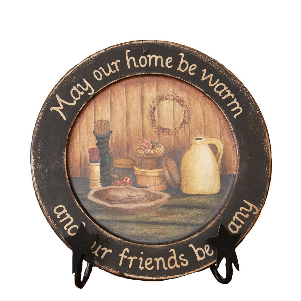 Your Heart's Delight ''May Our Home Wooden Plate, 11-5/8-Inch