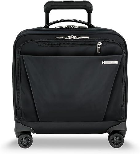 Briggs Riley Sympatico-Rolling Underseat Carry-On Bag, Onyx, 16-Inch