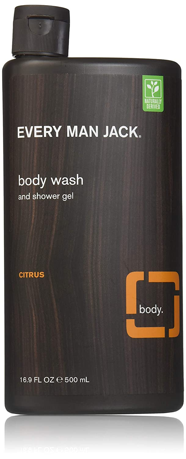 Every Man Jack Body Wash and Shower Gel, Citrus Scrub--16.9 oz (500 ml) by Every Man Jack [並行輸入品] B00SYD5KTG