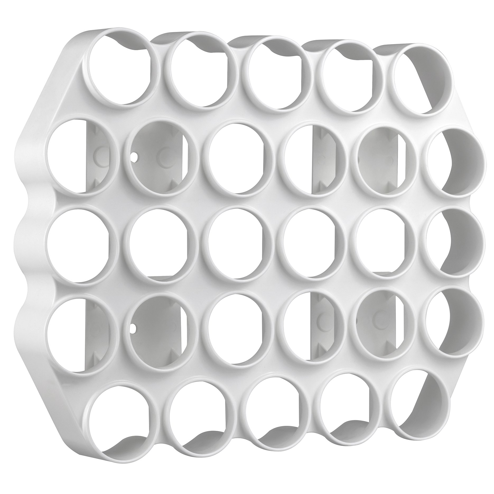 BeraTek Industries Storage Theory | Peel and Stick Cafe Wall Caddy | 28 Capacity Single Serve Coffee or Tea Pod Wall Display | White Color