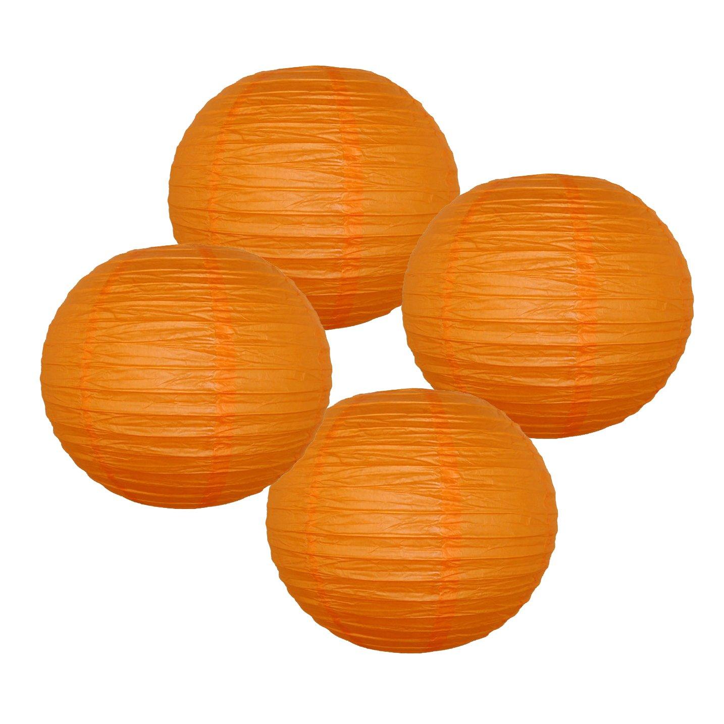 Just Artifacts 様々な紙製ランタン(色とサイズの異なる紙のランタン) 12inch AMZ-RPL4-120075 B01EGXJWNC 12inch|レッド オレンジ レッド オレンジ 12inch