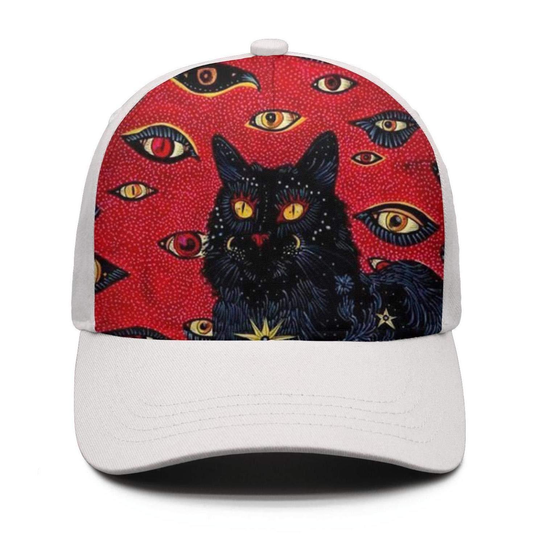 Cat Eyes Unisex Baseball Cap for Men Women Classic Low Profile Adjustable Plain Dad Hat