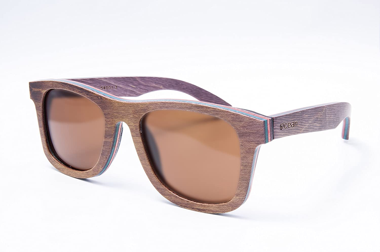Sunglasses Ocean Wood Lunette Venice De Soleil Beach Mixte LAjq35c4R