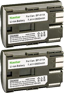 Batería 1600mAh para CANON BP-511 BP-512 BP511 BP512 H