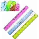 "Pink Lizard 12"" 30cm Super Flexible Ruler Rule Measuring Tool Stationery for Office School"