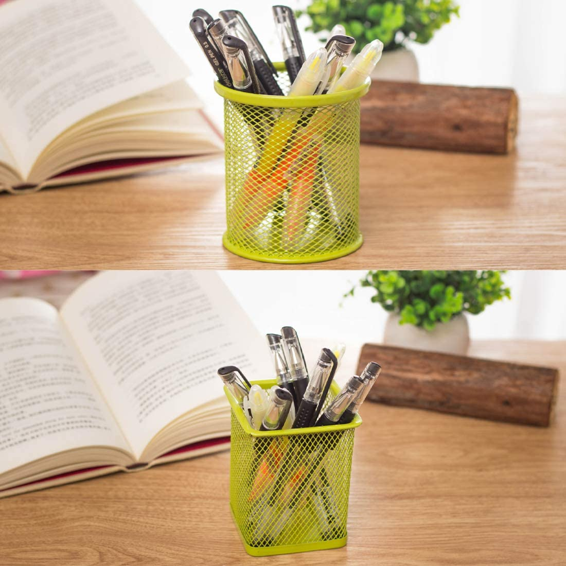 ZaoProteks ZPP1001C Pen and Pencil Metal Cup, Pen and Pencil Metal Holder and Organizer for Desk Office