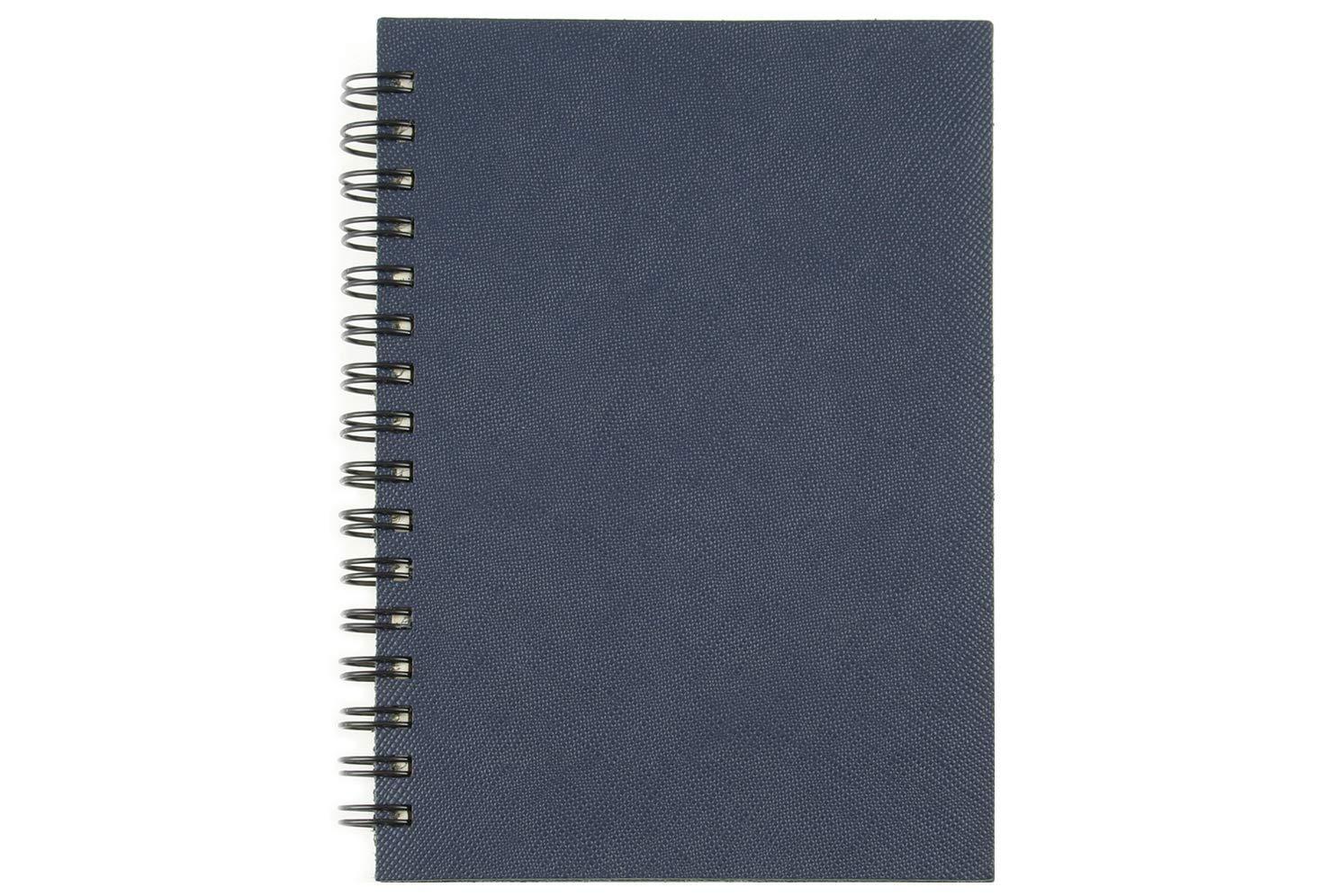 Cuaderno Saffiano/Notebook A6 en piel real con espiral ...