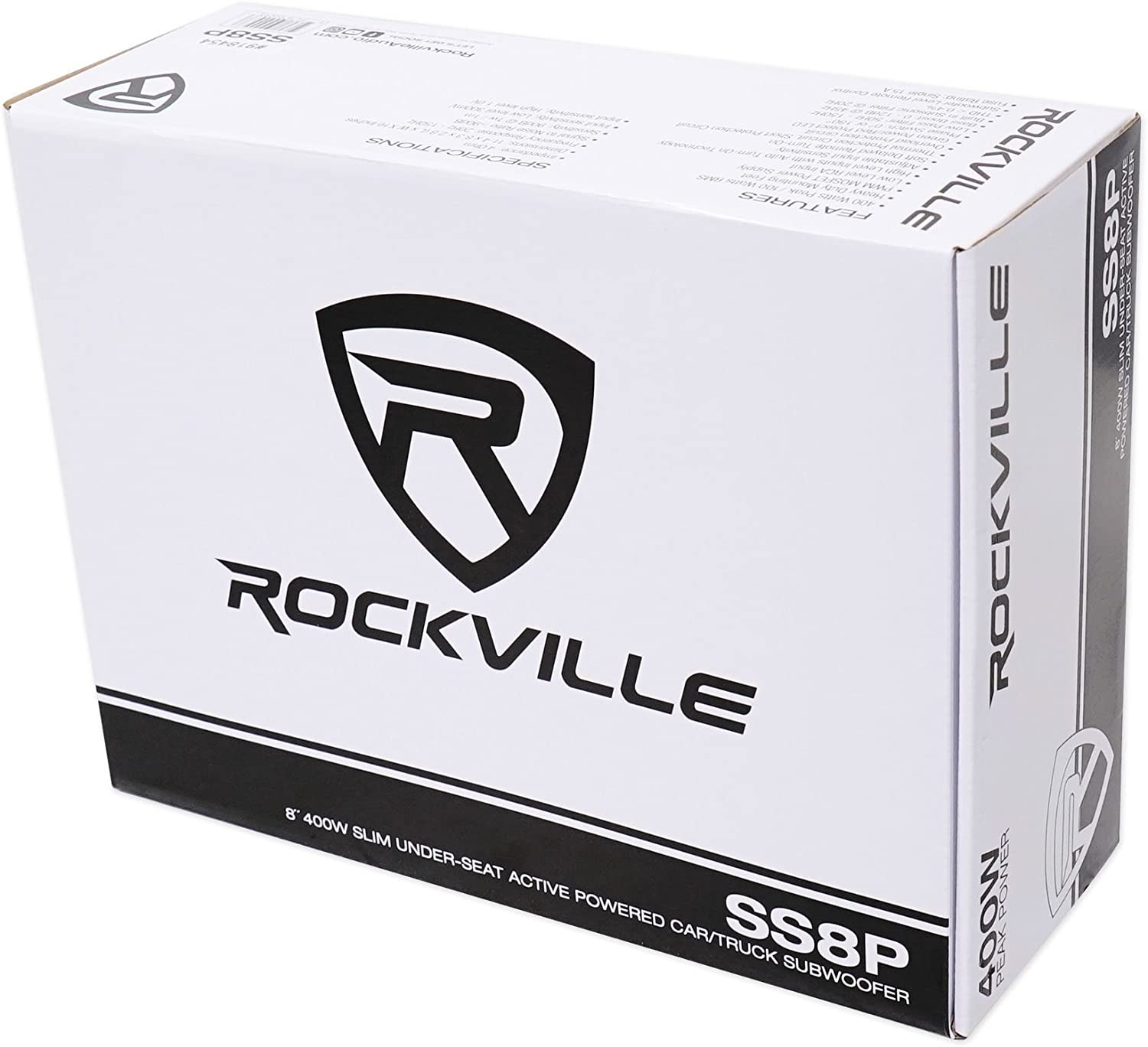 Rockville RockGhost Hidden Powered 8 Car Subwoofer Spare Tire Sub-No Lost Space