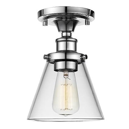 Globe electric mercer 1 light flush mount ceiling light clear glass globe electric mercer 1 light flush mount ceiling light clear glass shade chrome aloadofball Images