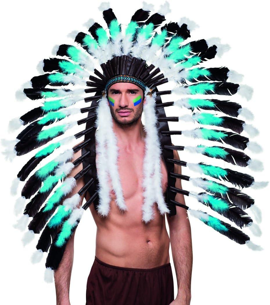 Tocado con Plumas Jefe de Tribu | Tocado de Indio | Accesorio ...
