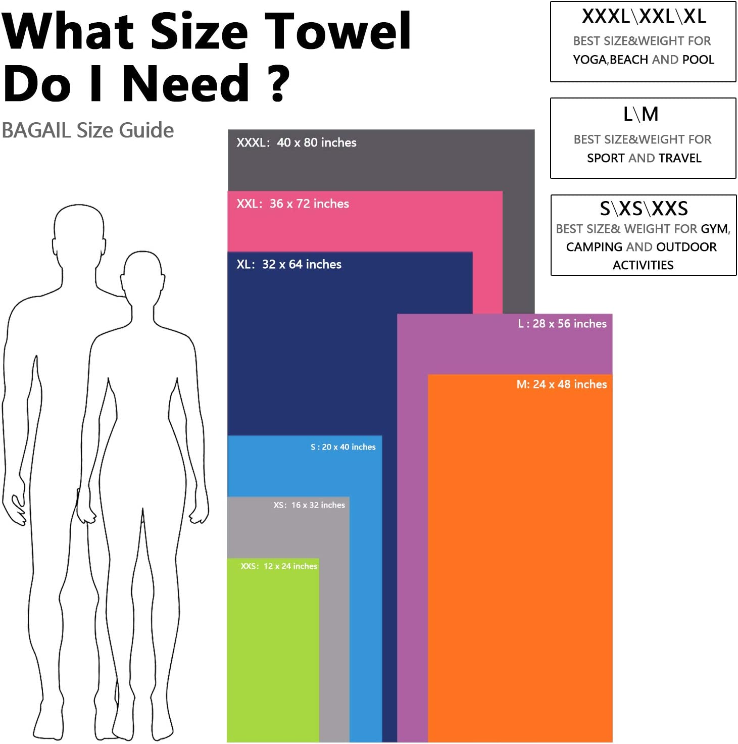 BAGAIL Basics Microfiber Towel Perfect Sports /& Travel /& Beach Towel Fast Drying Super Absorbent Beach Swimming Ultra Compact Gym Backpacking Blue 12 x 24 inches Suitable for Camping