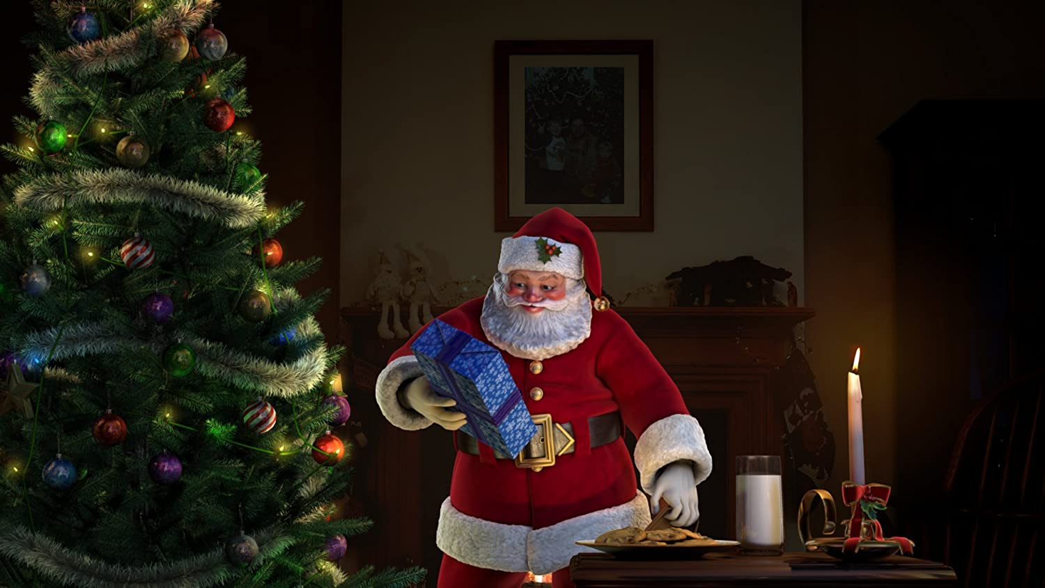AtmosFX Santa s Visit Digital Decorations DVD for Christmas Holiday Projection Decorating