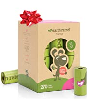 Earth Rated Eco-friendly Dog Poop Bags, 270 Extra Thick and Strong Poop Bags for Dogs, Guaranteed Leak-proof, Lavender-Scented, 18 Rolls, 15 Doggy Bags Per Roll, Each Dog Poop Bag Measures 9 x 13 Inches