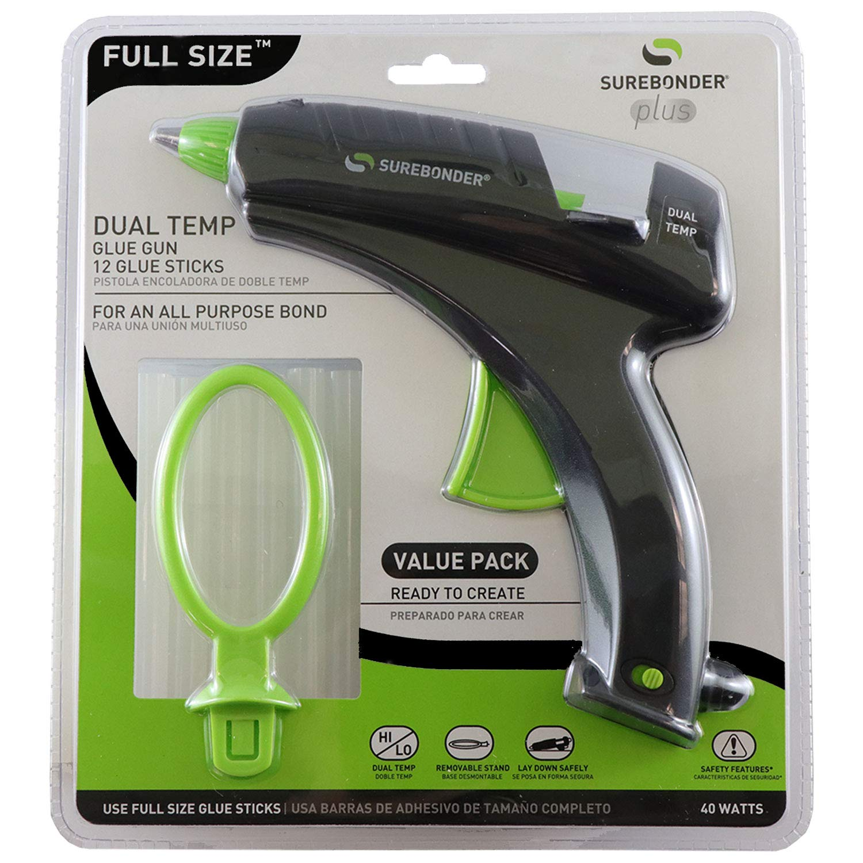 Surebonder DT-270FKIT Full Size Dual Temperature Glue Gun with 12 - 4-Inch Standard All Purpose Glue Sticks