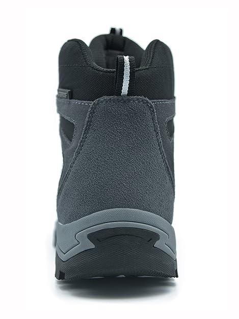 Knixmax-Botas de Senderismo para Mujer,Zapatillas de Montaña Caminar Suela Antideslizante AL Aire Libre Zapatos de Trekking Impermeables Zapatos de Deporte ...