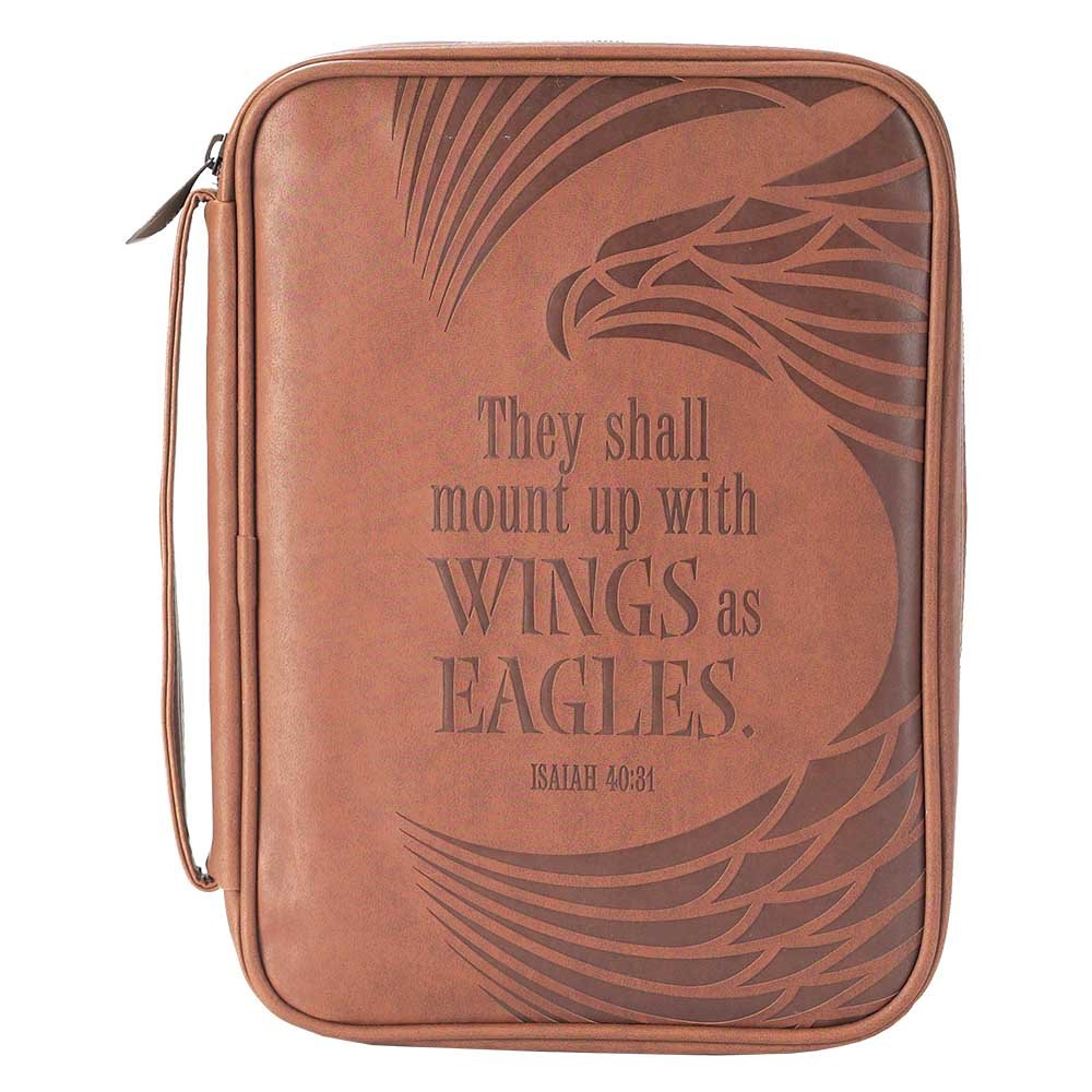Eagle's Wings Isaiah 40:31 Brown X-Large Faux Leather Men's Bible Cover Case Dicksons BCV-292