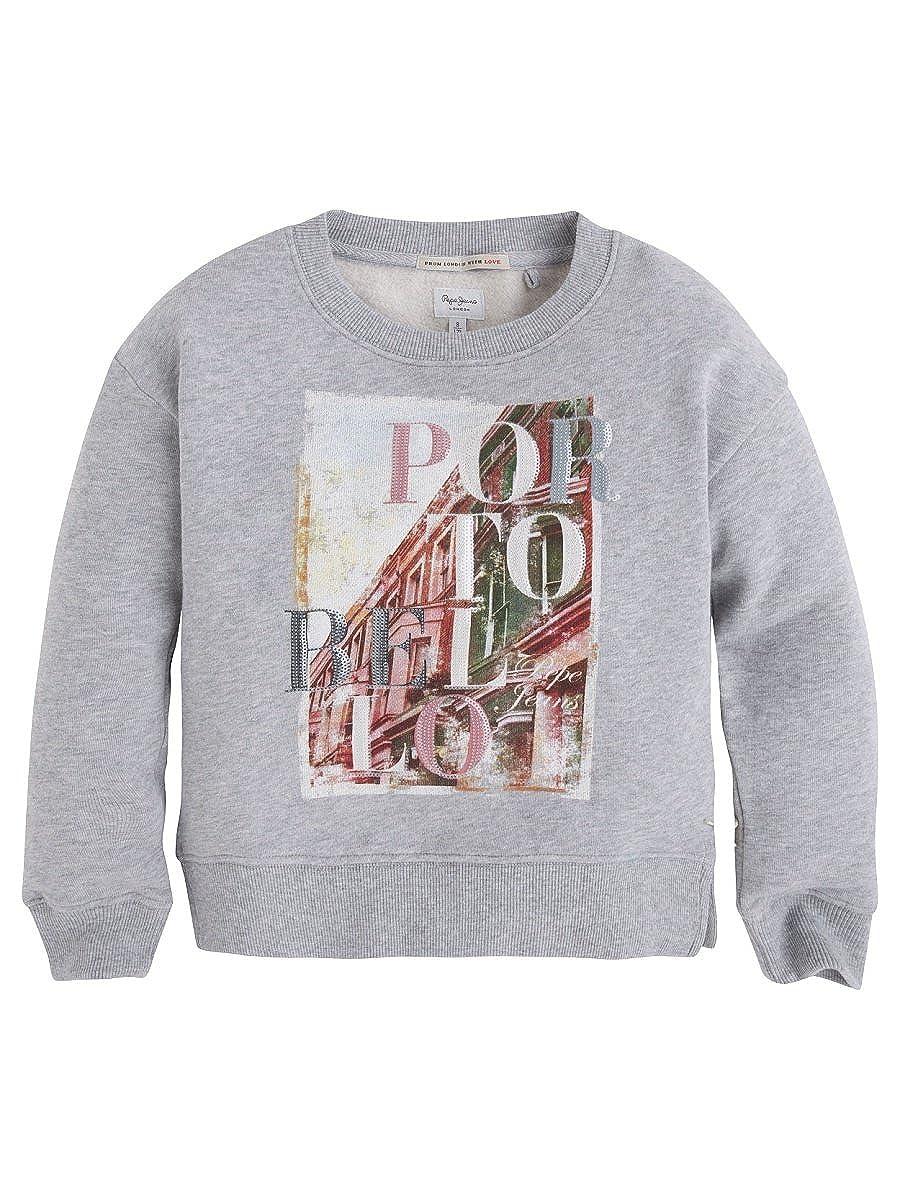 10 ans Pepe Jeans London - Sweat-Shirt - Fille gris gris