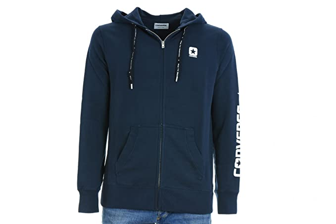 CONVERSE El hombre sudadera 10004974-A04 FZ HOOD MODERN chaqueta de lana XL Blu: Amazon.es: Ropa y accesorios