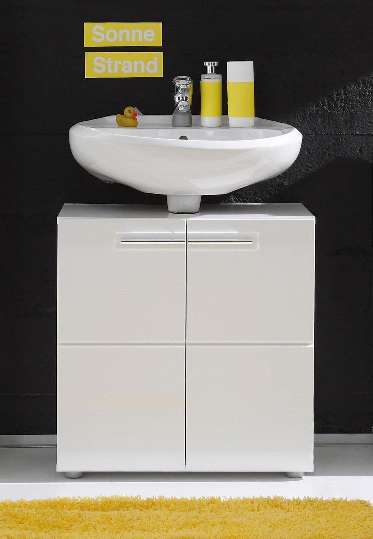 maisonnerie 1327 301 01 bora meuble sous lavabo blanc ultrabrillant lxhxp 60 x 56 x 34 cm amazonfr cuisine maison - Meuble Sous Vasque Angle