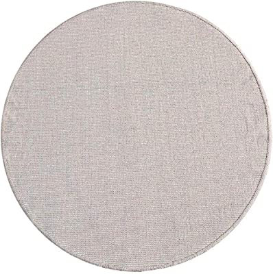 XI HOME Round Carpet Home Living Room Bedroom Bay Window Computer Chair Hand-Woven Mat (Color : Gray, Size : 180cm)
