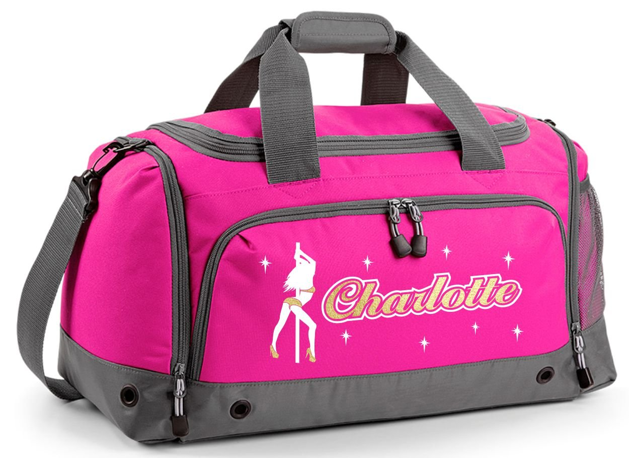 efb3cd79ff2 MusicaliTee Pole Fitness Dancing - Lady Dancer - Personalised Custom Dance  HOLDALL Gym Bag in 7
