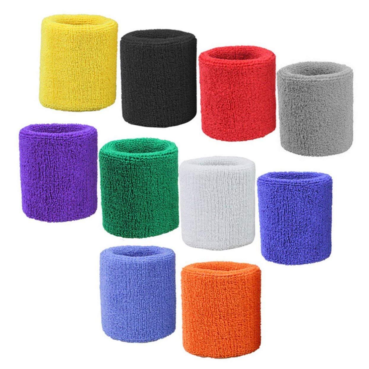 1 Paar Armb/änder aus reiner Baumwolle Weiche Handgelenkschutz-St/ützb/änder Handgelenkb/änder Sport-Schwei/ßb/änder zum Spielen von Basketball-Tennis