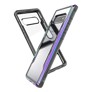 X-Doria Defense Shield, Samsung Galaxy S10 Plus Phone Case - Military Grade Drop Tested, Anodized Aluminum, TPU, and Polycarbonate Protective Case for Samsung Galaxy S10 Plus (Iridescent)