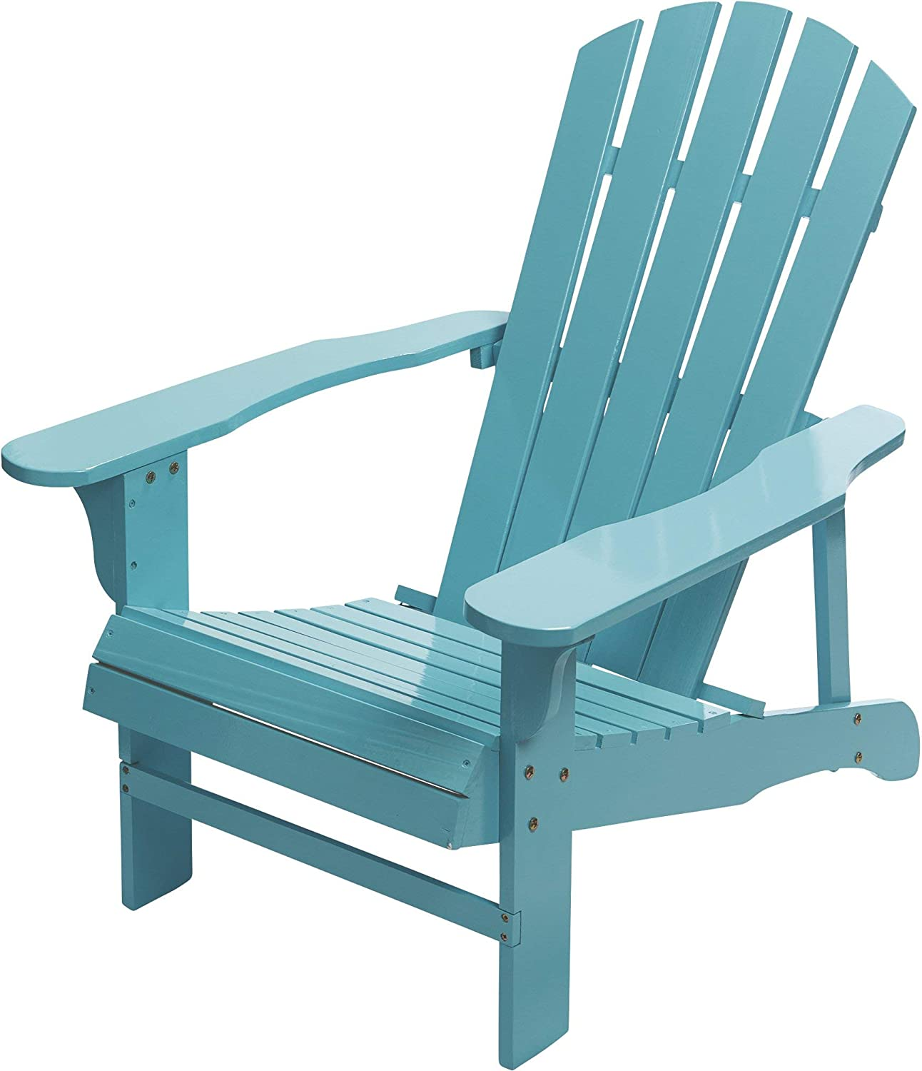 Leigh Country Classic Painted Acacia Wood Adirondack Chair - Turquoise