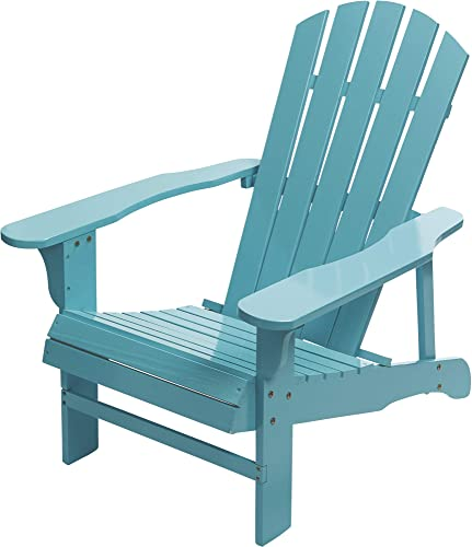 Leigh Country Classic Painted Acacia Wood Adirondack Chair – Turquoise