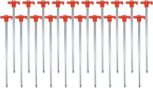 Yesland 20 Pack Tent Stake, 9-7/8 Inch Galvanized Non-Rust Camping Family Tent Pop Up Canopy Stakes