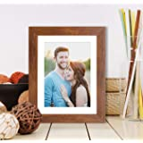 Art Street Synthetic Brown Wall/Table Photo Frame (Picture Size 6 inches X 8 inches, Matted to 4 x 6 inches)