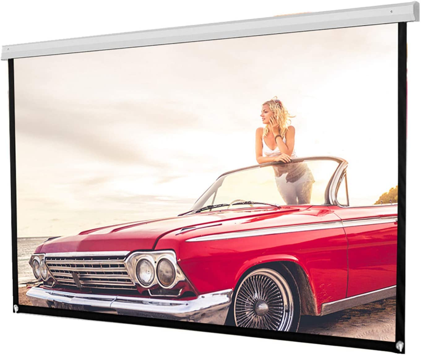 Projector Screen 72 inch 16:9 HD Foldable Anti-Crease Portable Projection Movies Screen for Home Theater Outdoor Indoor