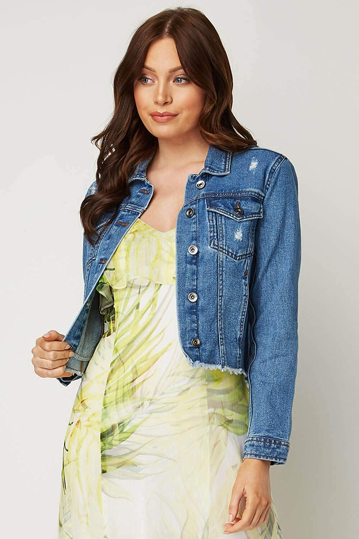Mens Chest Pocket Cotton Summer Buttoned Casual Denim Jacket