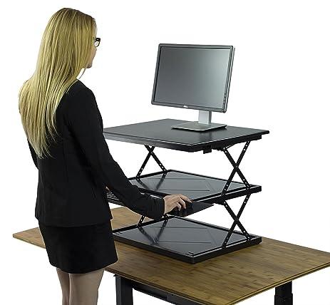 Amazoncom Uncaged Ergonomics Change Desk Adjustable Height