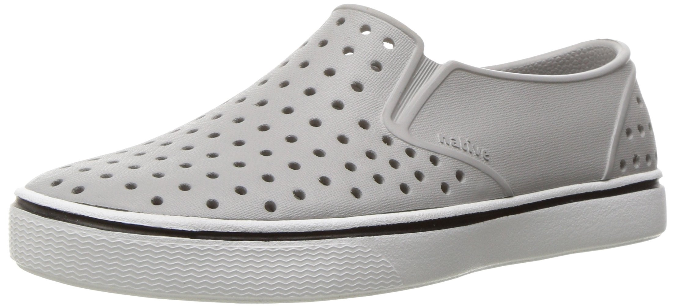 Native Kids Miles Junior Water Proof Shoes, Pigeon Grey/Shell White, 3 Medium US Little Kid