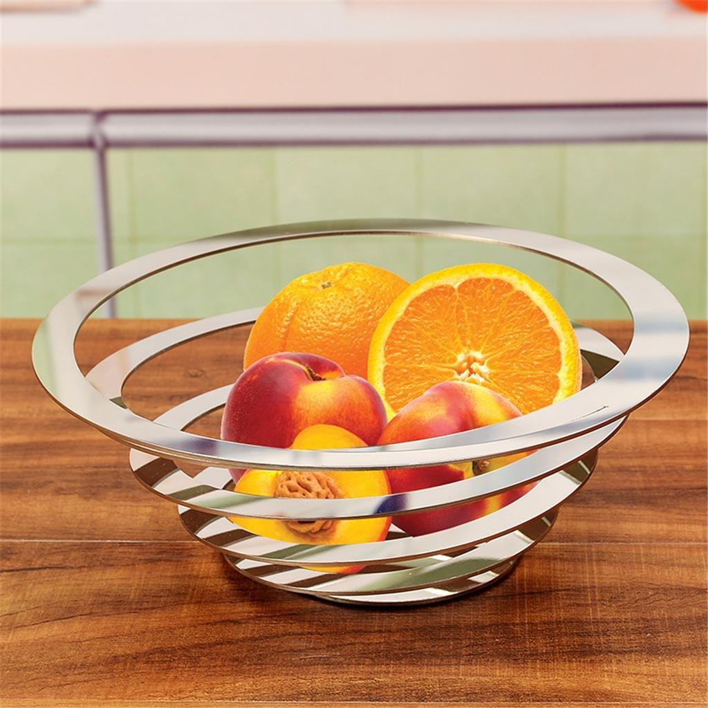 gptm® Cesta de frutas cesta de fruta acero inoxidable pulido grueso no Solder Juntas integrado moldura Apple estilo Circular creativo Continental, ...