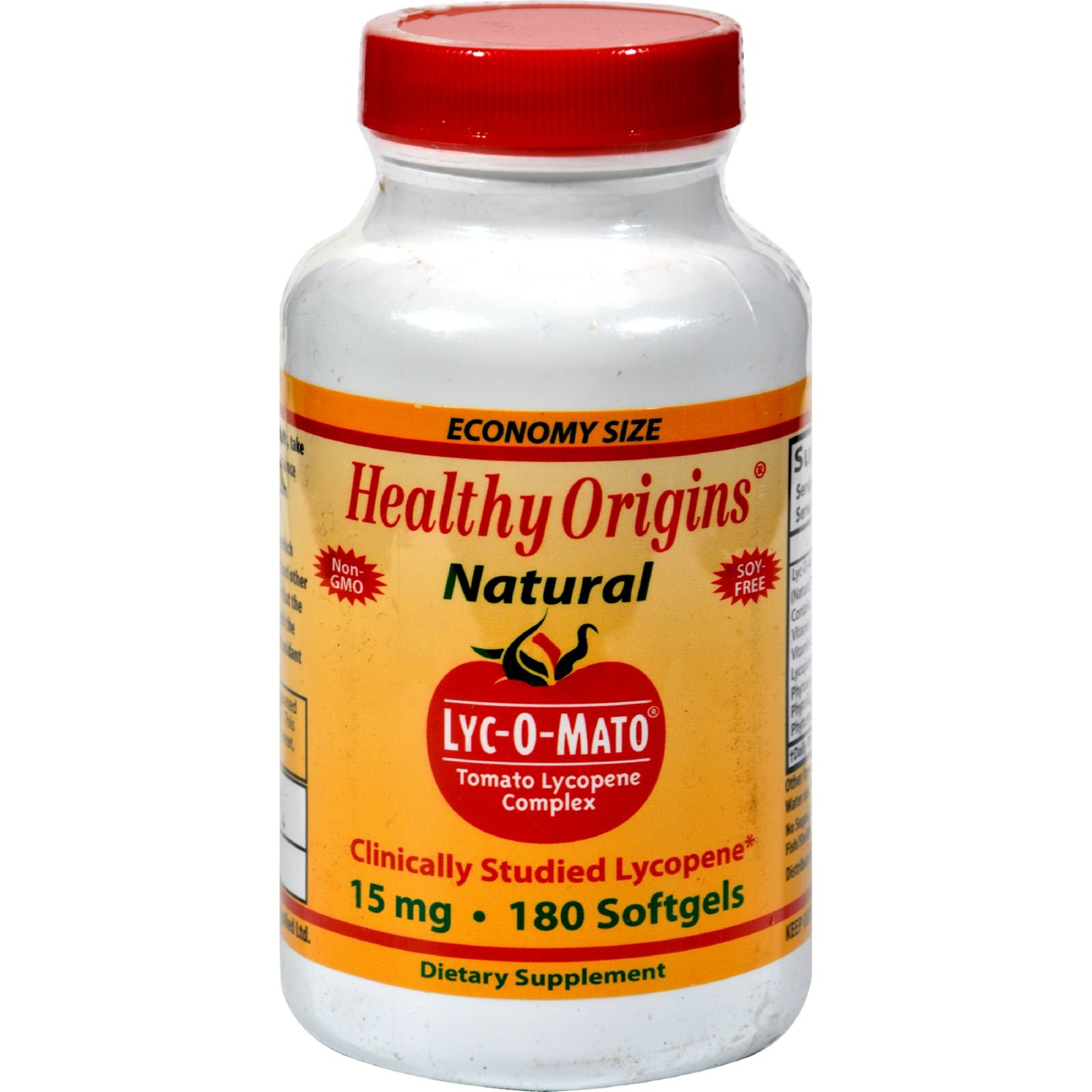 Healthy Origins LYC-O-Mato - 15 mg - Non GMO - No Soy - 180 Softgels (Pack of 2) by Healthy Origins