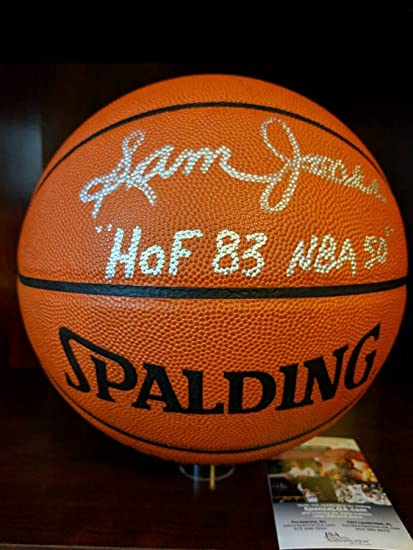 ba12edd4ad0e7 Sam Jones HOF 83 Nba 50 Autographed Signed Memorabilia Spalding ...