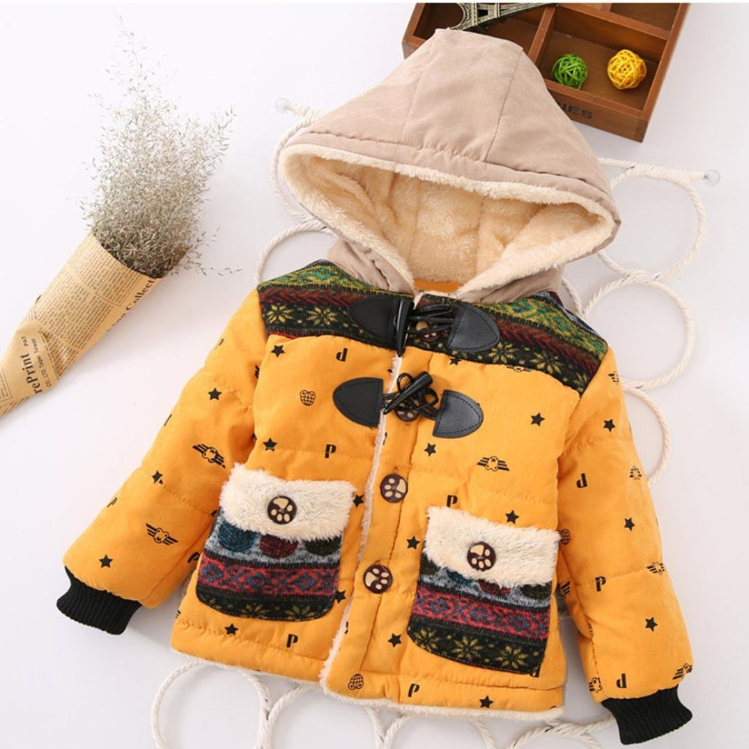 Konfa Baby Girls Boys Stylish Cartoon Elephant Hooded Coat,Suitable for 0-4 Years old,Winter Warm Thick Cloak Tops