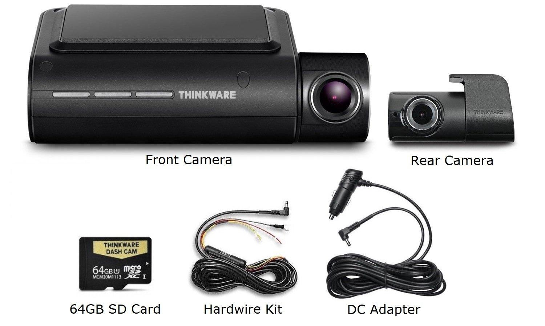 Thinkware F800 Pro Dash Cam 64GB Kit w/Rear Cam Hardwire WiFi GPS Night Vision