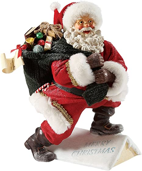 Department 56 Possible Dreams Santas Snow on The Rooftop Santa, 10 inch