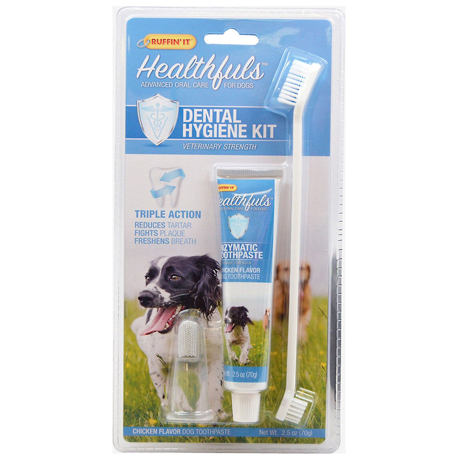 Enzymatic Toothpaste for Dogs Dental Kit Dog Toothpaste Toothbrush Fingerbrush for Freshen Breath
