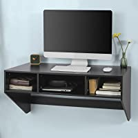 Rakuten.com deals on Haotian Black Wall-Mounted Table Desk FWT14