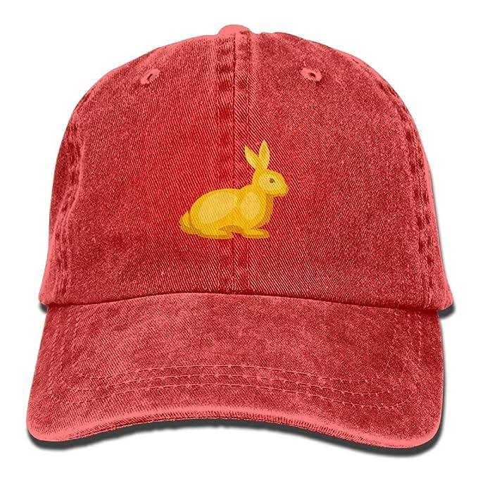 48ea1ce35 WATSONIO Cubs Baseball Hat Yellow Cartoon Rabbit Adjustable Cowboy Hats  Stylish Red: Amazon.ca: Clothing & Accessories