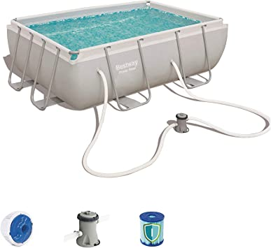 Bestway 56629 - Piscina Desmontable Tubular Power Steel 282x196x84 cm Depuradora de cartucho de 1.249 litros/hora: Amazon.es: Jardín
