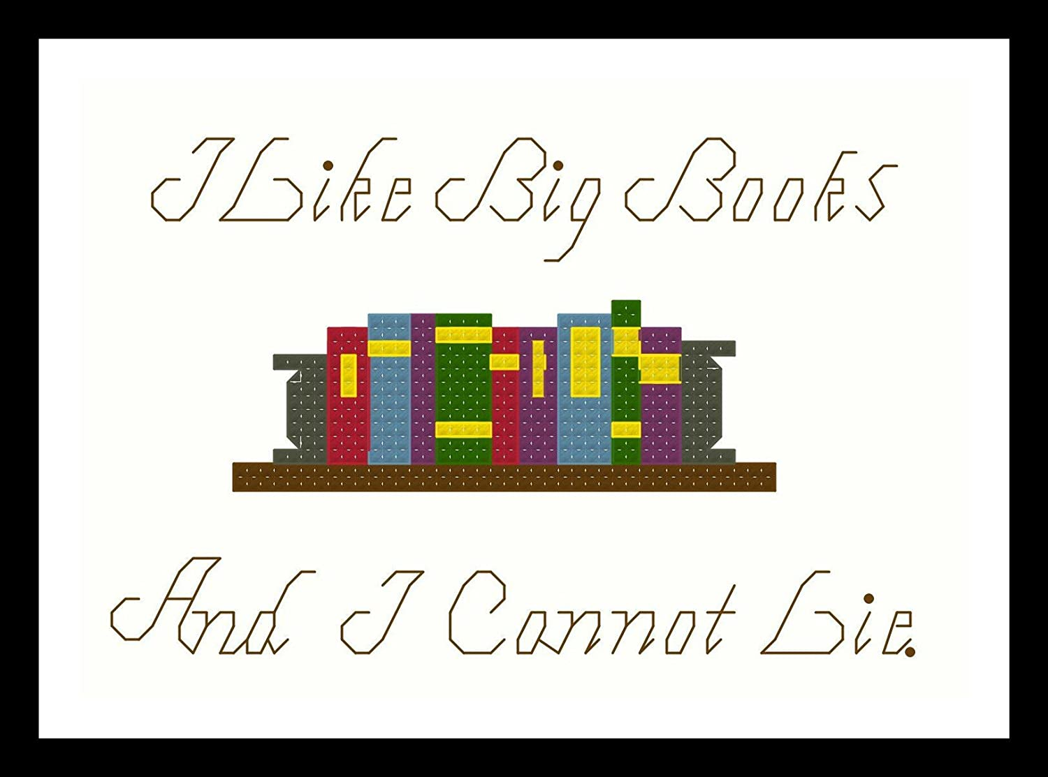 Counted Cross Stitch Pattern I like big books and I cannot lie