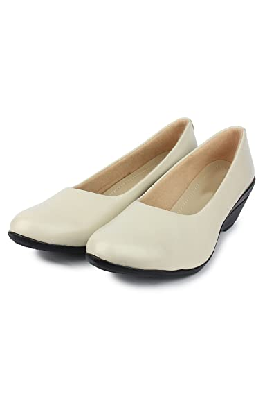 Do Bhai Formal-Shoes-Plain Wedges for Women (Euro37, Cream)