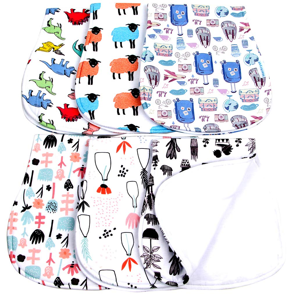 Baby Burp Cloths Boys Girls Unisex Soft Absorbent Baby Burping Rags hierkryst