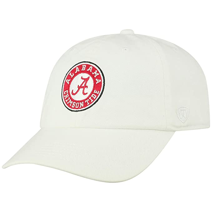 big sale 1b335 cc29c Top of the World NCAA Alabama Crimson Tide Men s Adjustable Relaxed Fit  White Icon Hat,