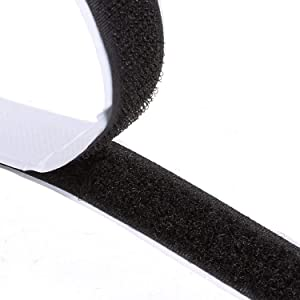 Double-Sided Adhesive, 8M Extra Strong Self-Adhesive Hook and Loop Tape Roll Sticky Back Strip with Strong Adhesive Tape Strip Fastener 8.8 Yards, 20mm Wide Black Used in Sewing, School, Office, Home